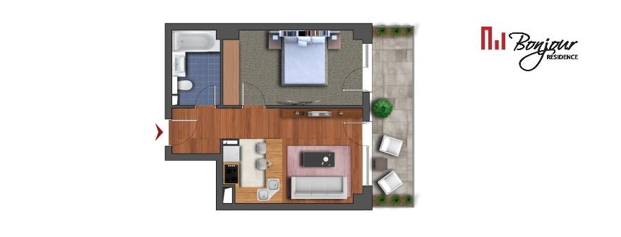 Vezi apartamentele cu 1 cameră disponibile pe etaj