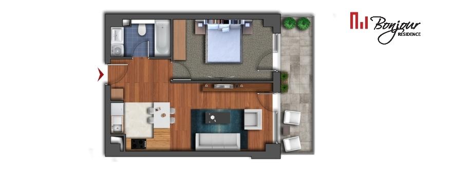 Vezi apartamentele cu 2 camere disponibile pe etaj